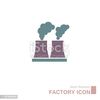 Factory icon design. Isolated on white background.