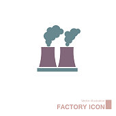 Vector Image factory icon on white isolated background. Layers grouped for easy editing illustration. For your design.