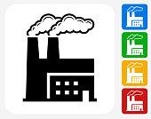 Factory Icon Flat Graphic Design