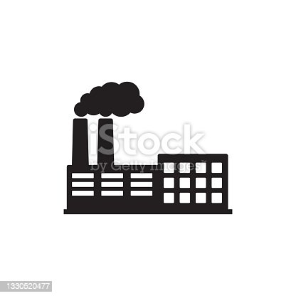istock Factory icon. Vector illustration of industry icon. 1330520477