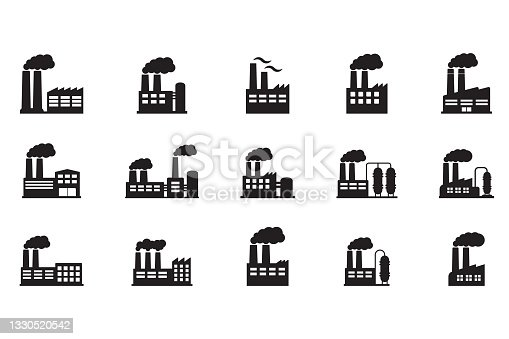 istock Factory icon. Vector illustration of industry icon. 1330520542