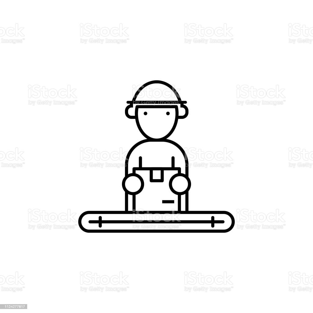 factory, packing, boxes icon. Element of production icon for mobile...