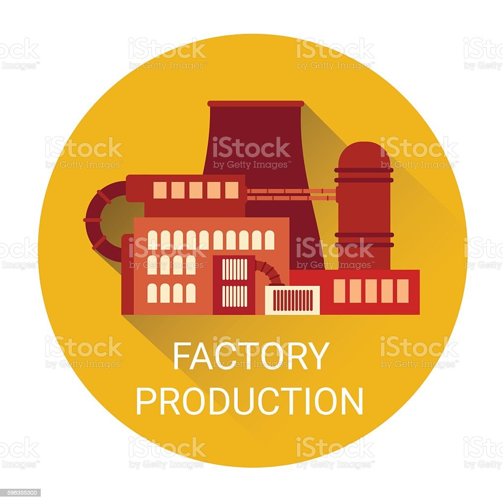 Factory Production Plant Icon royalty-free factory production plant icon stock vector art & more images of abstract