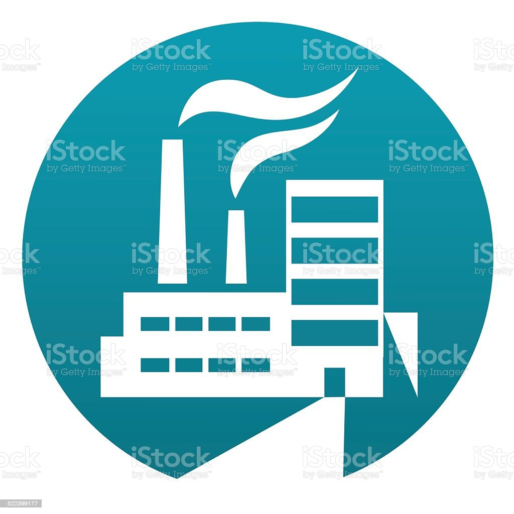 Factory sign vector art illustration