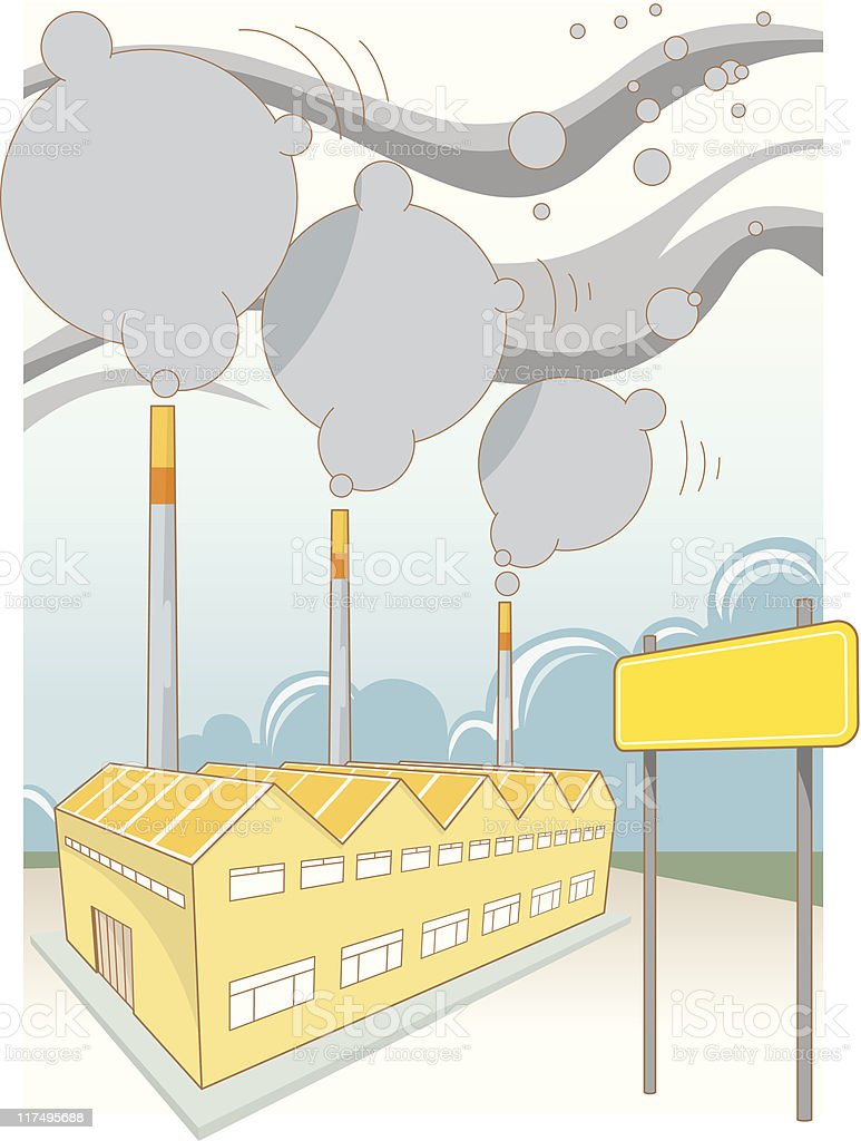 Factory royalty-free factory stock vector art & more images of chimney