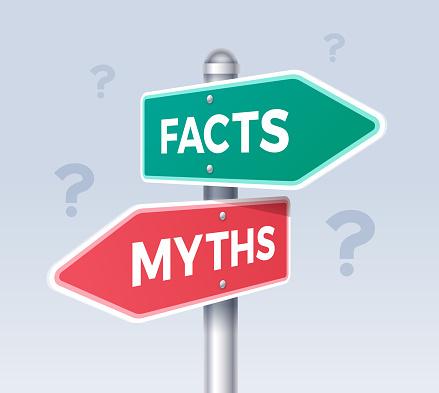 Facts and Myths Arrow Choice Direction Sign