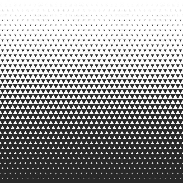 Fade gradient pattern. Vector grade seamless background. Fade gradient pattern. Vector gradient seamless background. Gradient halftone texture. triangle shape stock illustrations