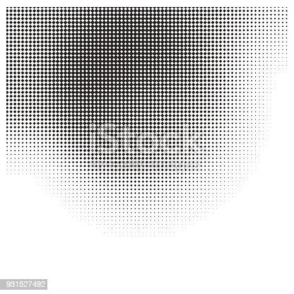 istock Faded halftone pattern gradient background 931527492