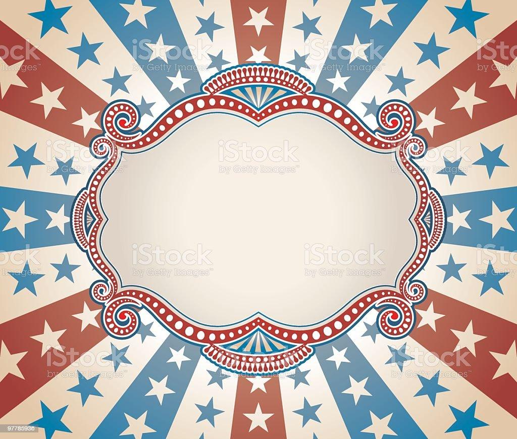 Faded Stars & Stripes Frame royalty-free stock vector art