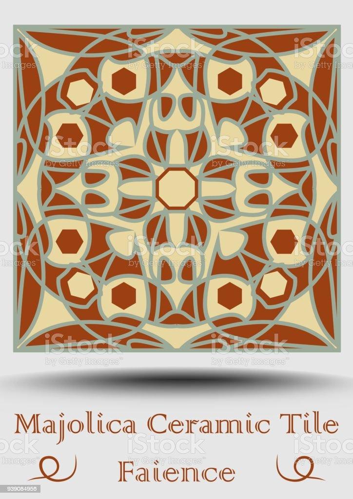 Fayencefliesen Dekorative Keramik Fliesen In Beige Olivgrün Und - Fliesen vintage stil