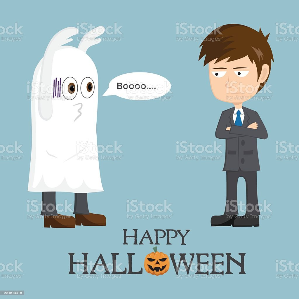 En cas d'échec homme d'affaires fantôme de Halloween jour - Illustration vectorielle