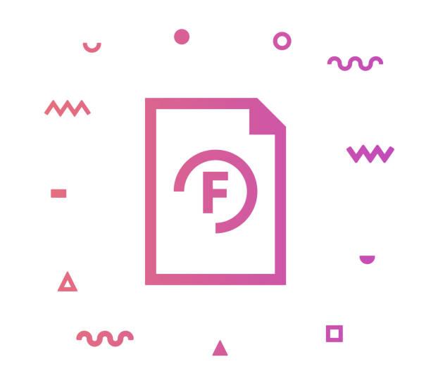 fail line style icon design - buchstabenschreibweise stock-grafiken, -clipart, -cartoons und -symbole