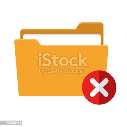 istock Fail Icon on Transparent Background 1283608031