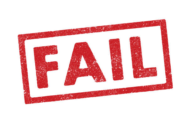 Fail ink stamp Vector illustration of the word Fail in red ink stamp failure stock illustrations