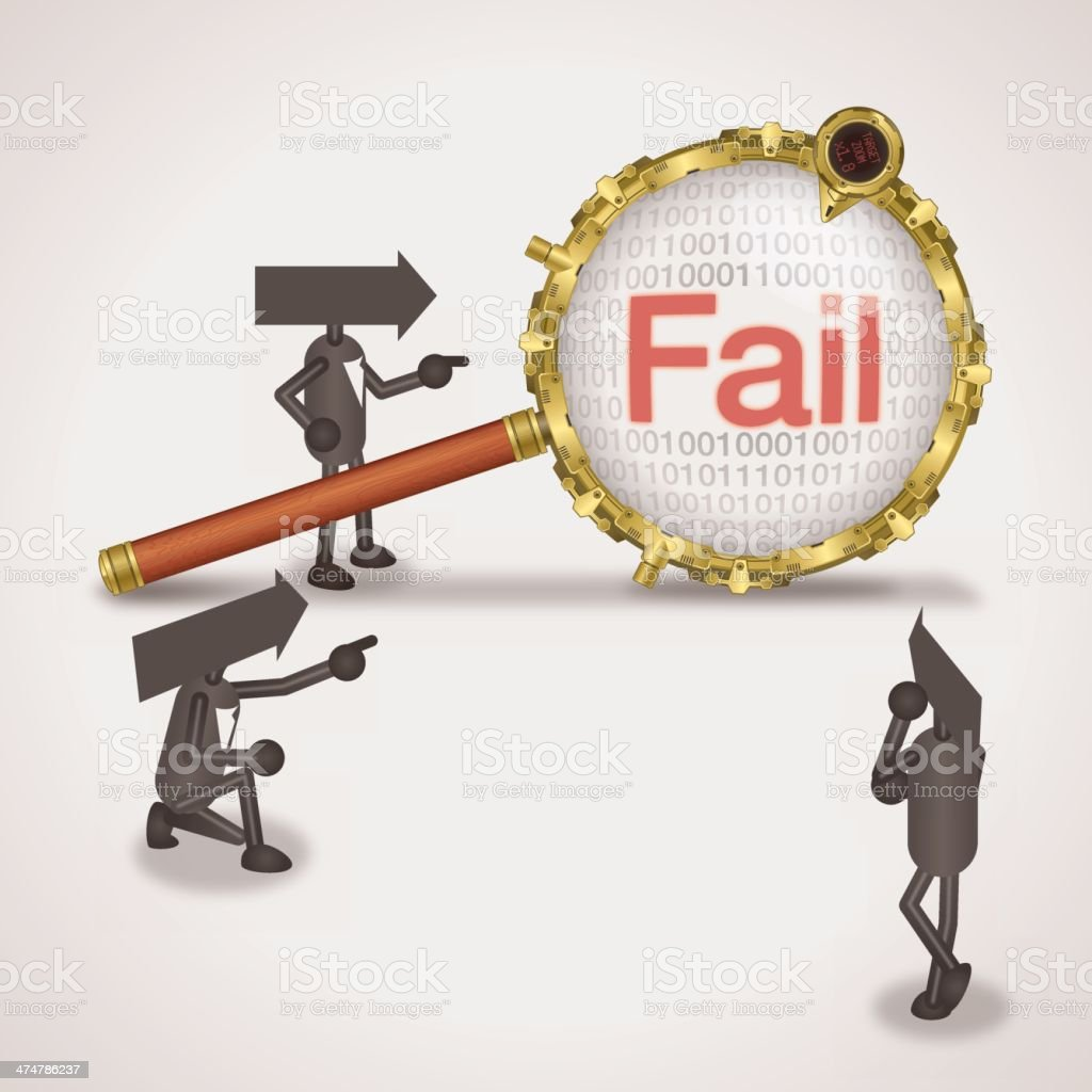 Fail royalty-free fail stock vector art & more images of accidents and disasters