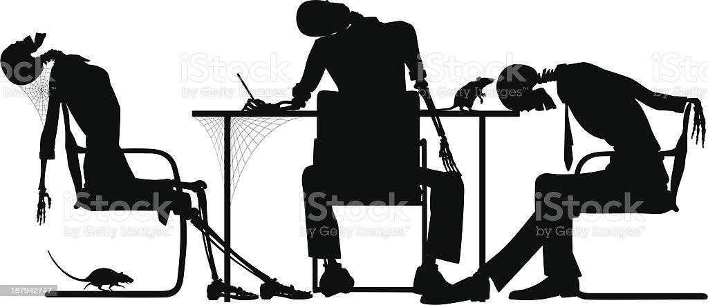 Failed business vector art illustration
