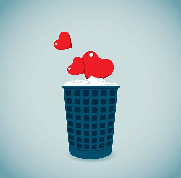 bildbanksillustrationer, clip art samt tecknat material och ikoner med failure - recycling heart