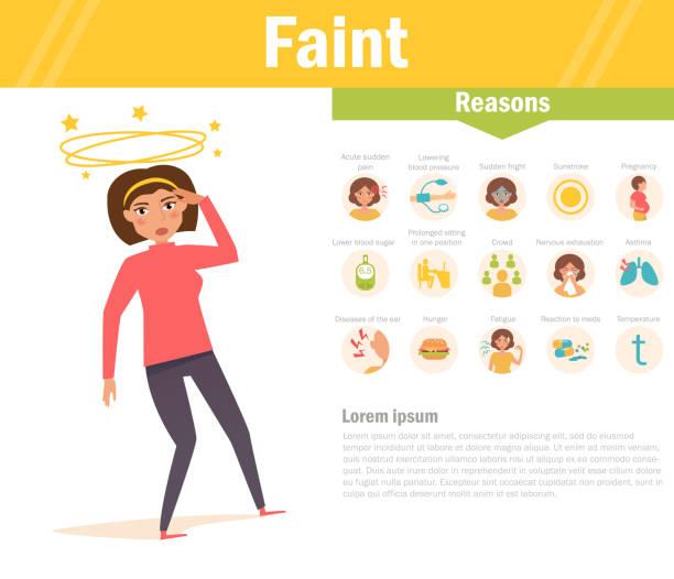 Faint. Reasons. Vector. Cartoon vector art illustration