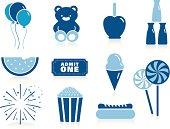fair Icons in Blue