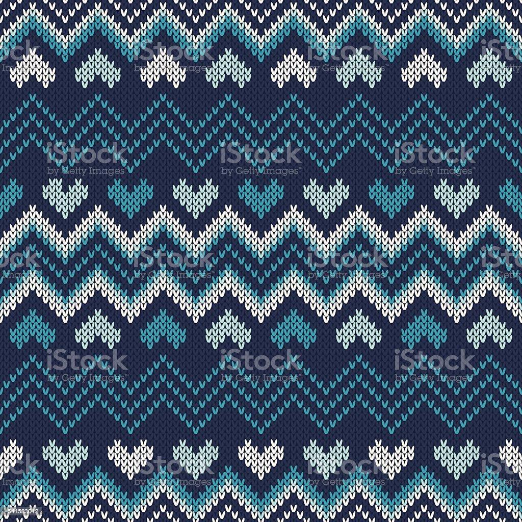 Fair Isle Style Knitted Sweater Design Seamless Knitting Pattern ...