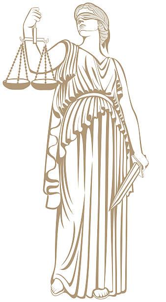 ilustraciones, imágenes clip art, dibujos animados e iconos de stock de juicio justo ley de justicia themis .lady - civil rights