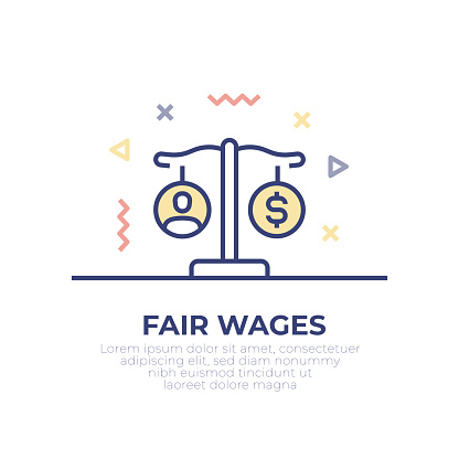 Fair Wages Outline Icon