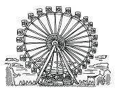 Fairground Ferris Wheel Drawing
