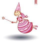 fairie, angel. vector illustration.