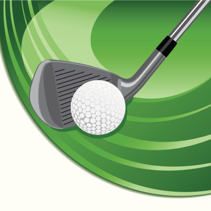 fairway iron and golf ball