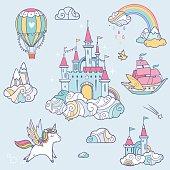Fairy cloud castle set