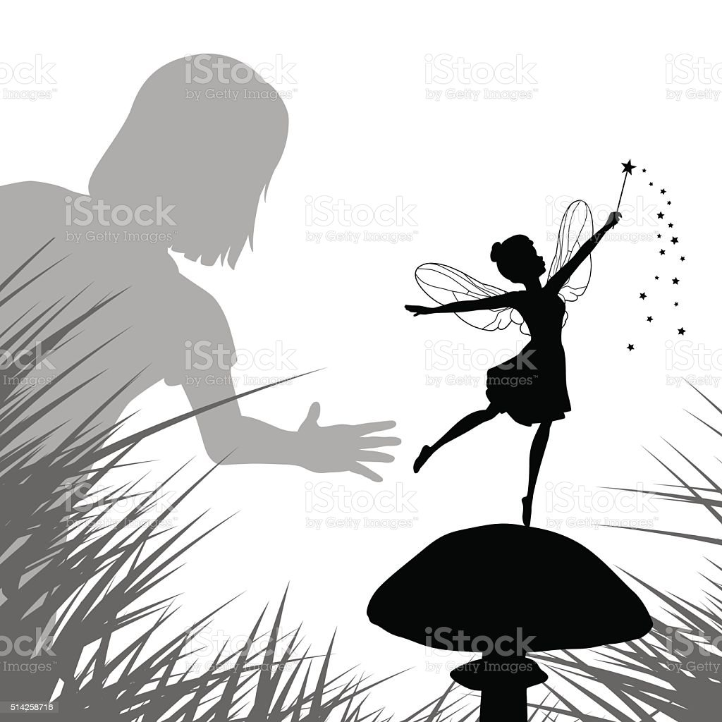 Fairy discovery vector art illustration