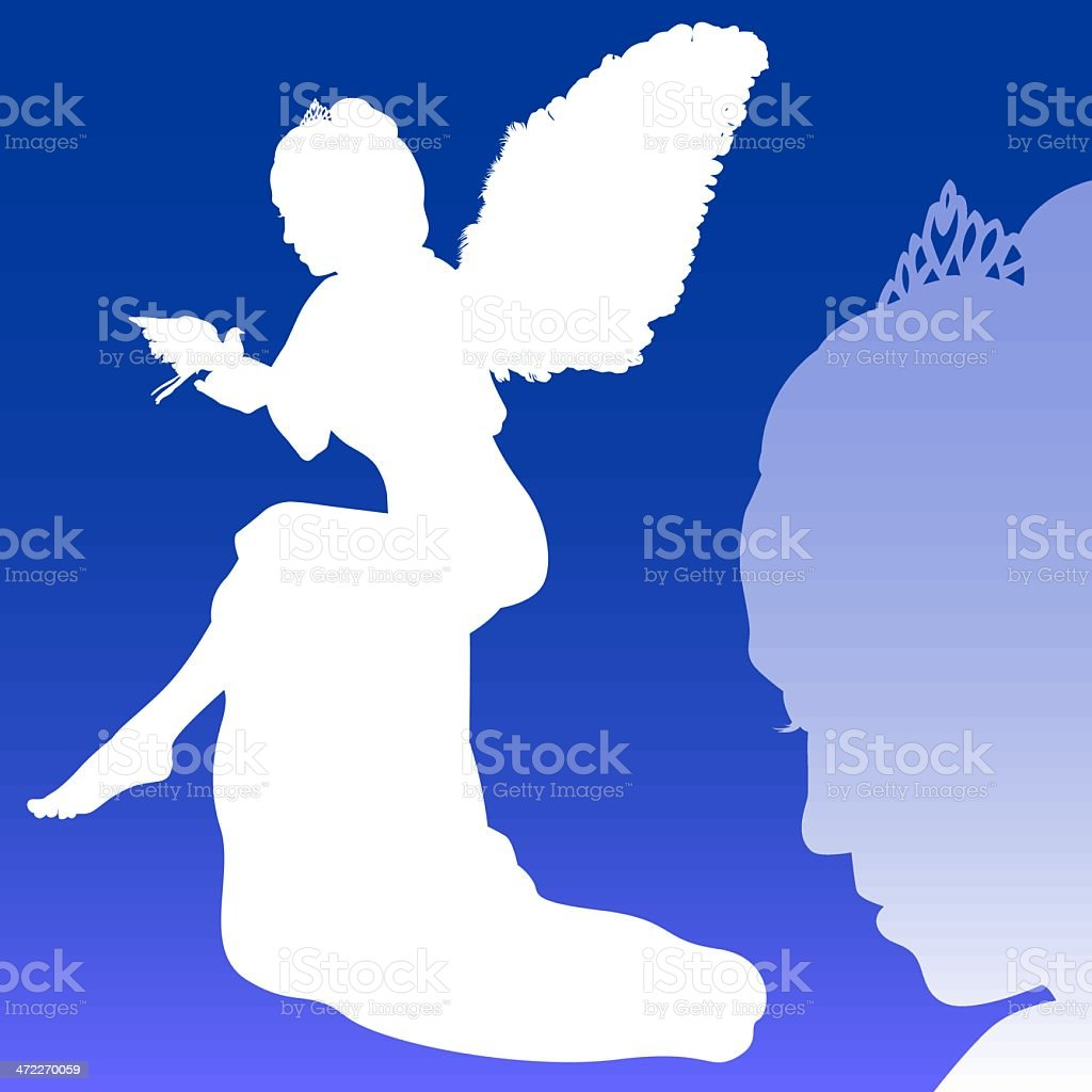 Fairy godmother (vector) royalty-free stock vector art