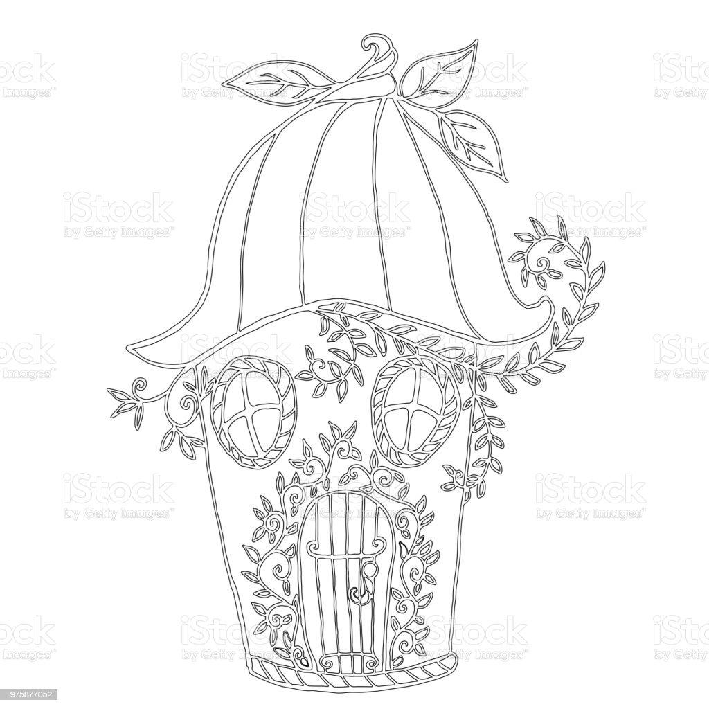Ilustración de Bellflower De Casa Hadas Niñs Libro Para Colorear y ...