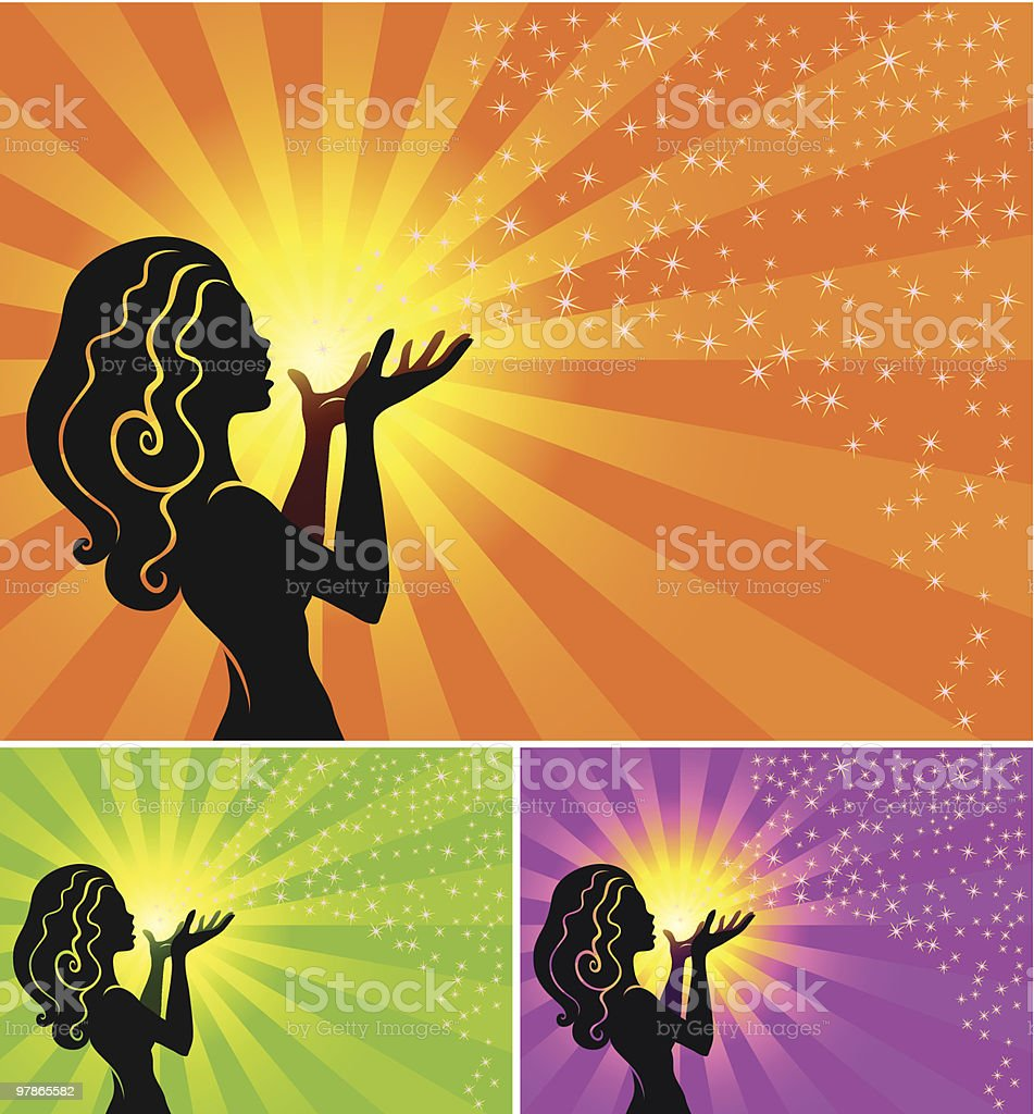 fairy makes a wish royalty-free stock vector art