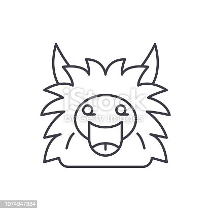 Fairy monster line icon concept. Fairy monster vector linear illustration, sign, symbol