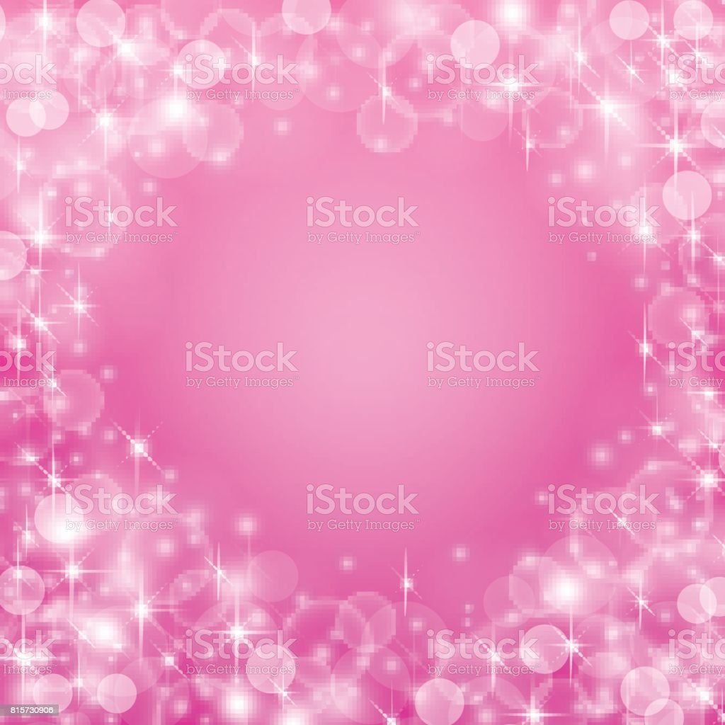 Magical pink background with space for text. Vector illustration.