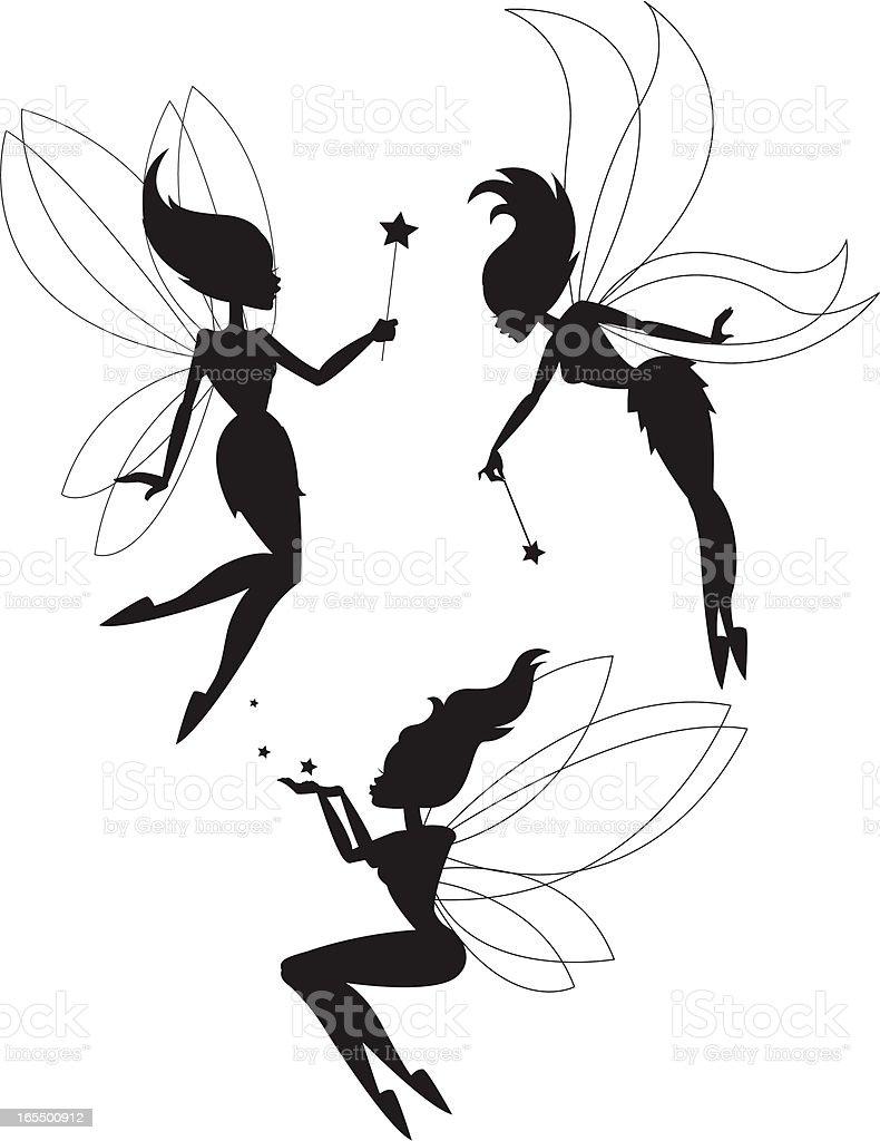 Fairy Play vector art illustration
