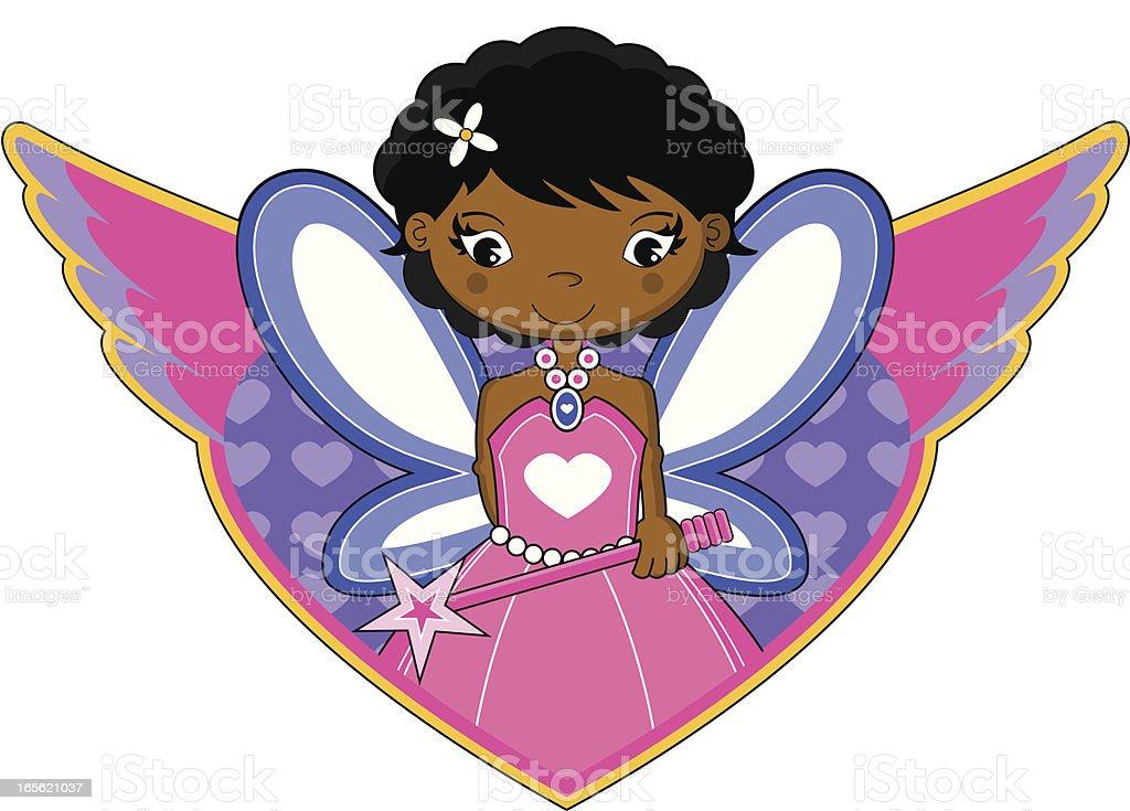 Fairy Princess Icon vector art illustration