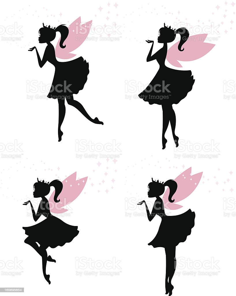 Fairy Princesses vector art illustration
