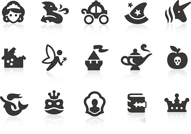 märchen symbole - geistergeschichten stock-grafiken, -clipart, -cartoons und -symbole
