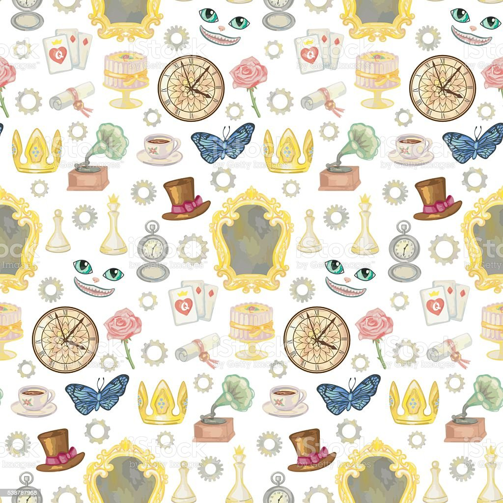 Fairy Tale Seamless Pattern