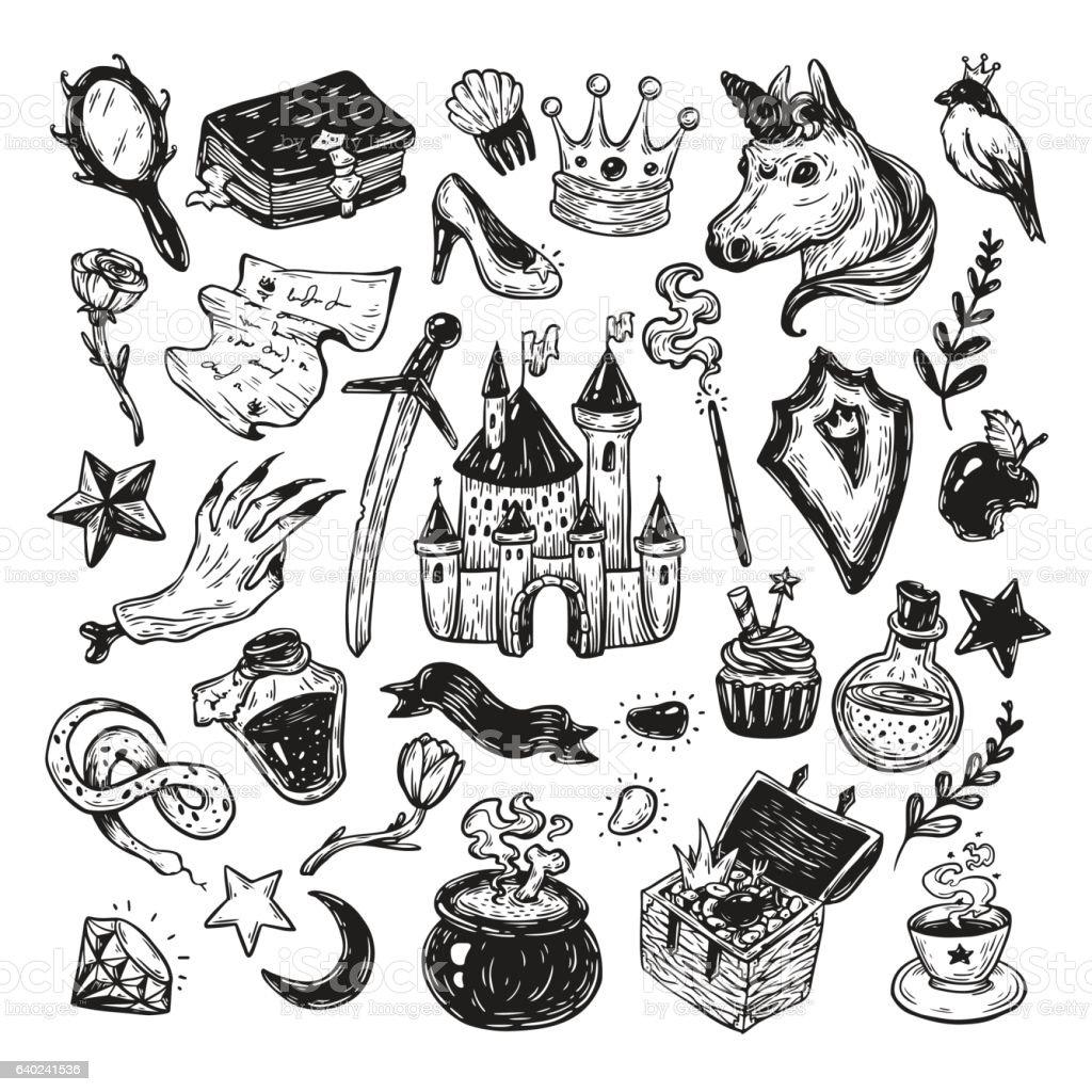 Fairy Tale, Set. vector art illustration