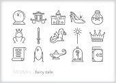 Fairy tale story line icon set