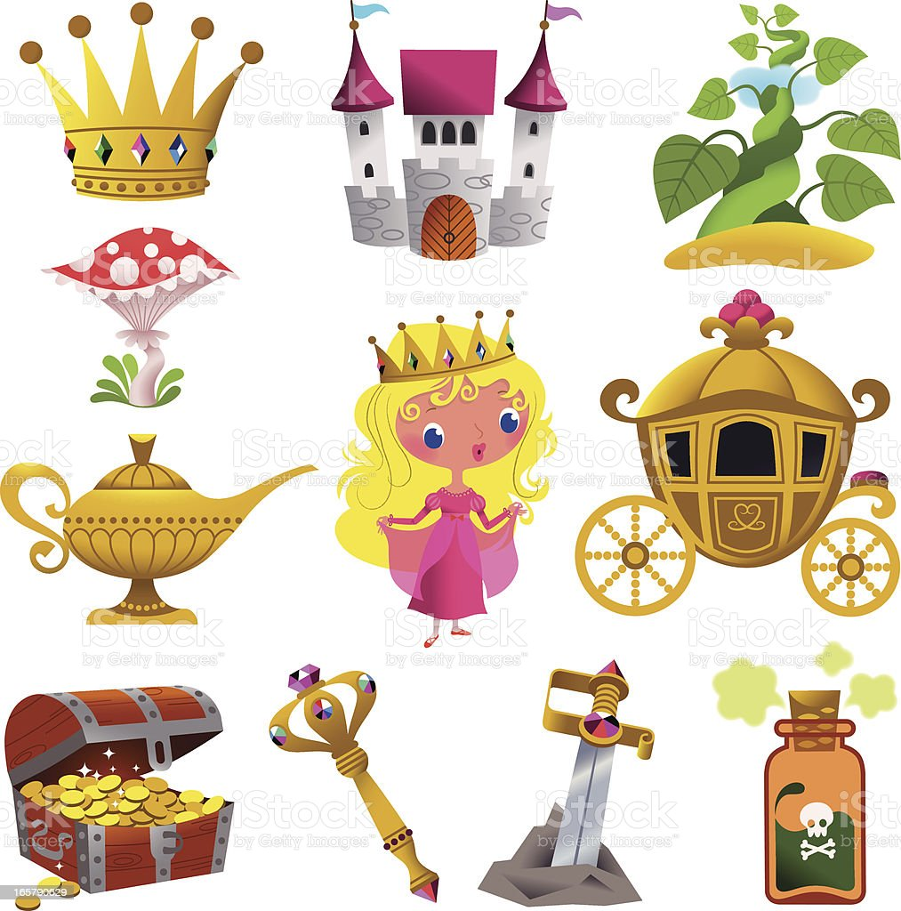 Fairy Tale Symbol Collection. royalty-free fairy tale symbol collection stock vector art & more images of awe