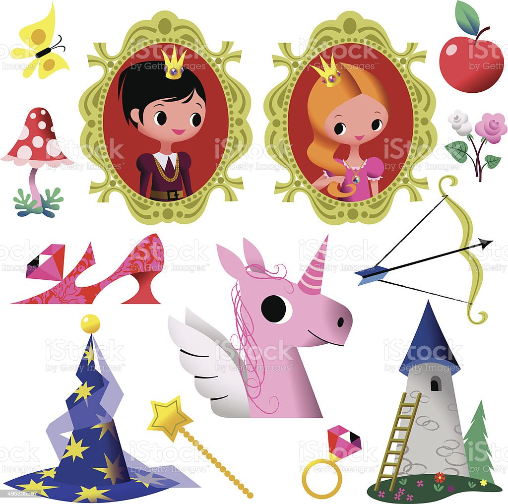 Fairy Tale Symbol Collection Stock Vector Art More Images Of