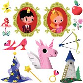 Fairy Tale Symbol Collection.