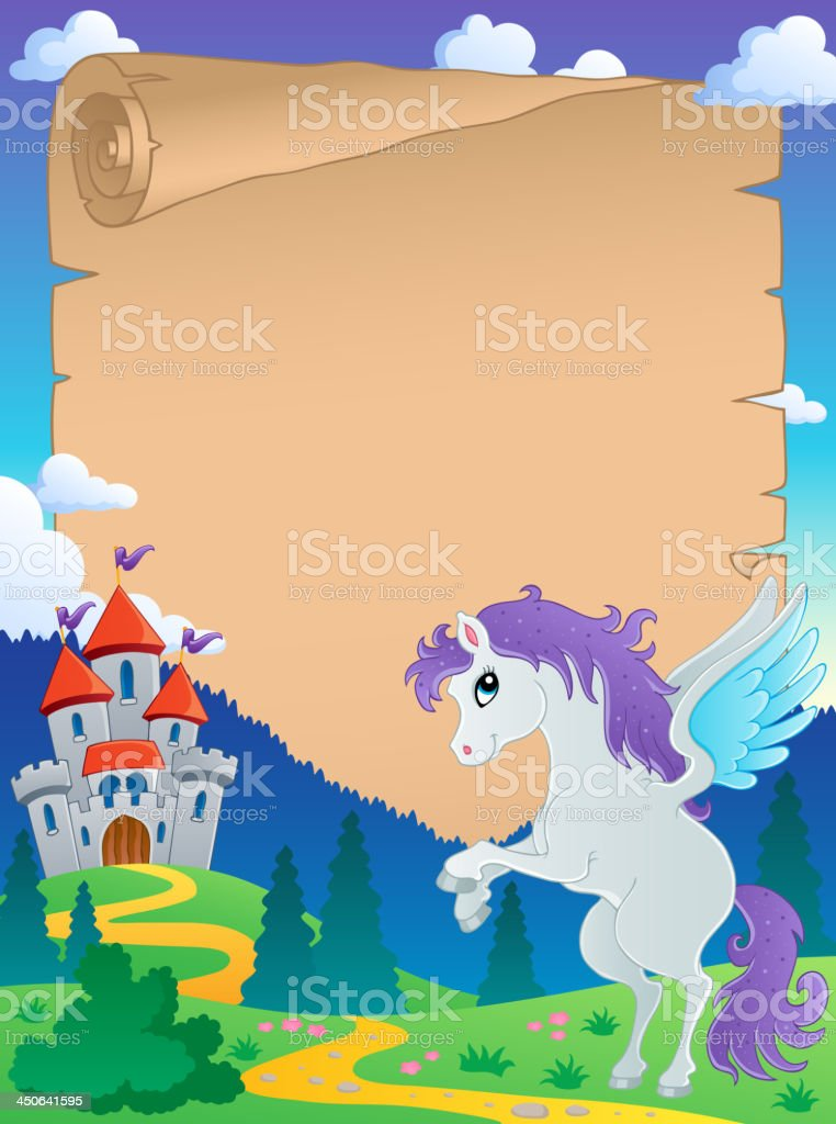Fairy tale theme parchment 5 royalty-free stock vector art