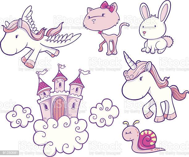 Fairy Tale Vector Elements Stock Illustration - Download Image Now
