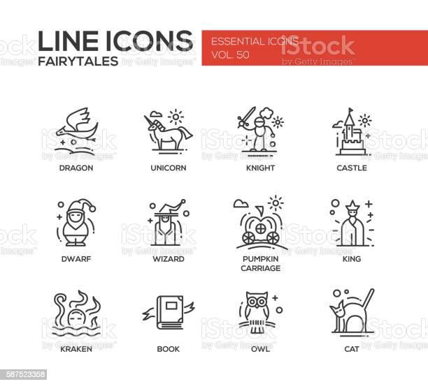 Fairy tales flat design line icons set vector id587523358?b=1&k=6&m=587523358&s=612x612&h=sekbbvmy qmjdbsbsjlnkgkbwxcehselm1bf1fdxfco=
