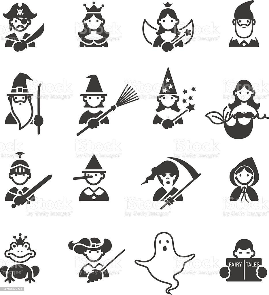 Fairy Tales icons royalty-free stock vector art